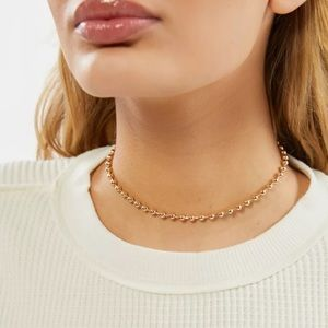 Urban Outfitters Goldtone Ball Chain Choker